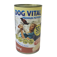Dog Vital Turkey & Duck In Gravy - 1240g