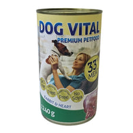 Dog Vital Rabbit & Heart In Gravy - 1240g