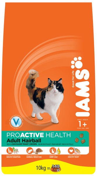 Iams Cat Adult Hairball Control csirke 10kg