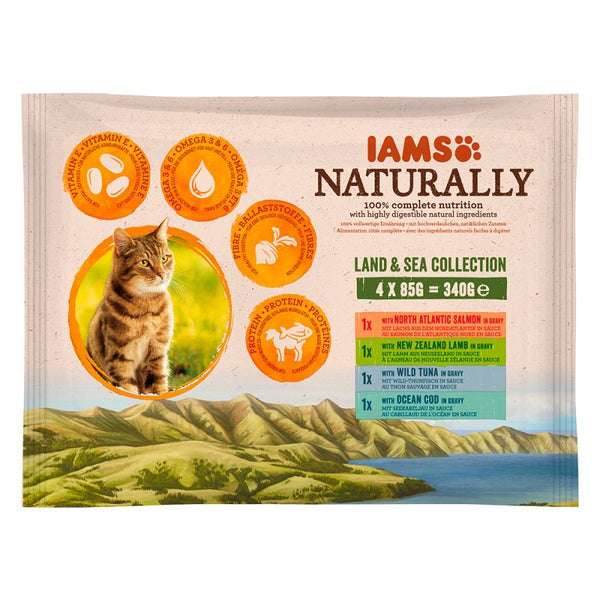 Iams Naturally Cat Adult Mix In Sauce - 4x85g