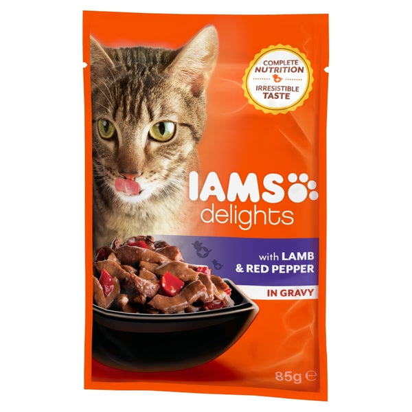 Iams Delights Adult Lamb & Red Pepper In Gravy - 85gr