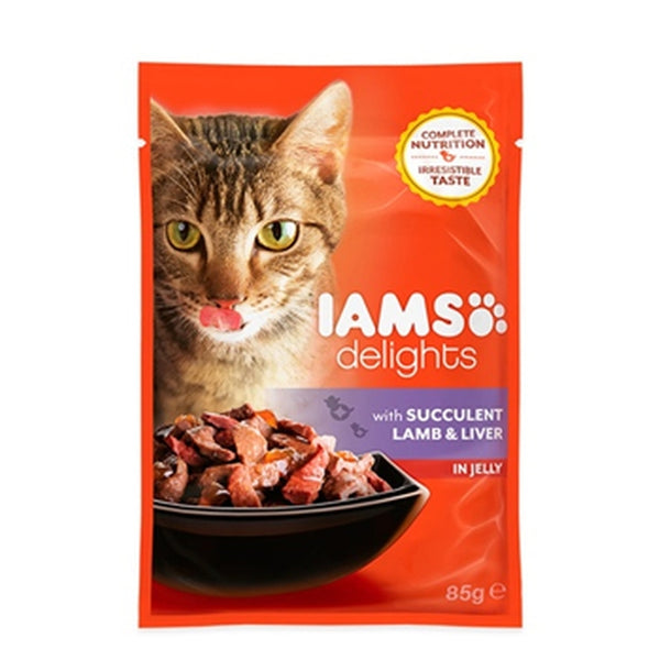 Iams Cat Delights Adult Succulent Lamb & Liver in Jelly 85gr