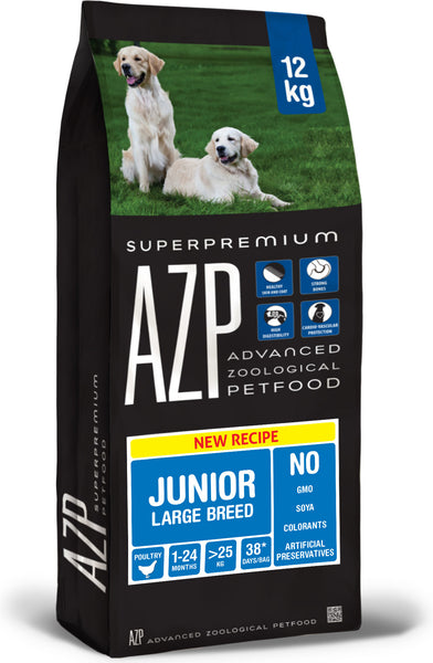AZP Junior Large Breed Chicken & Rice - Dog Dry 12kg