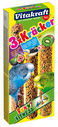Vitakraft Kräcker Trio-Mix Banana & Fig & Kiwi - 90g