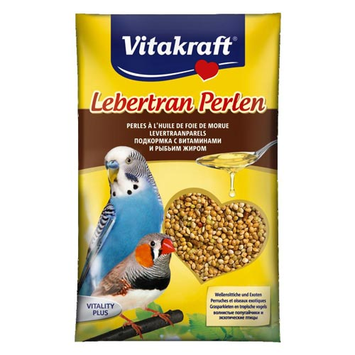 Vitakraft Budgerigars Cod Liver Oil Pearls - 20g