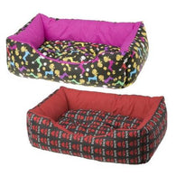 Ferplast Coccolo 50 Soft Dog And Cat Bed Sofa - Red & Black
