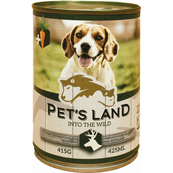 Pet's Land Dog Wild Game With Carrots - 415g
