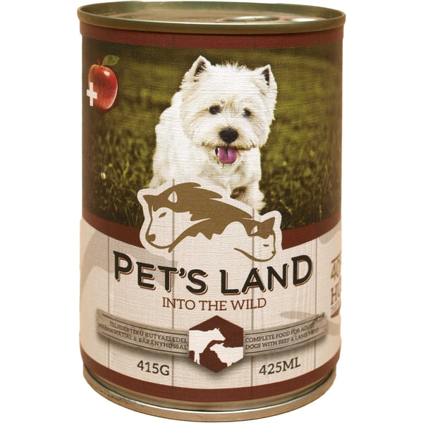 Pet's Land Dog Beef & Lamb With Apple - 415g