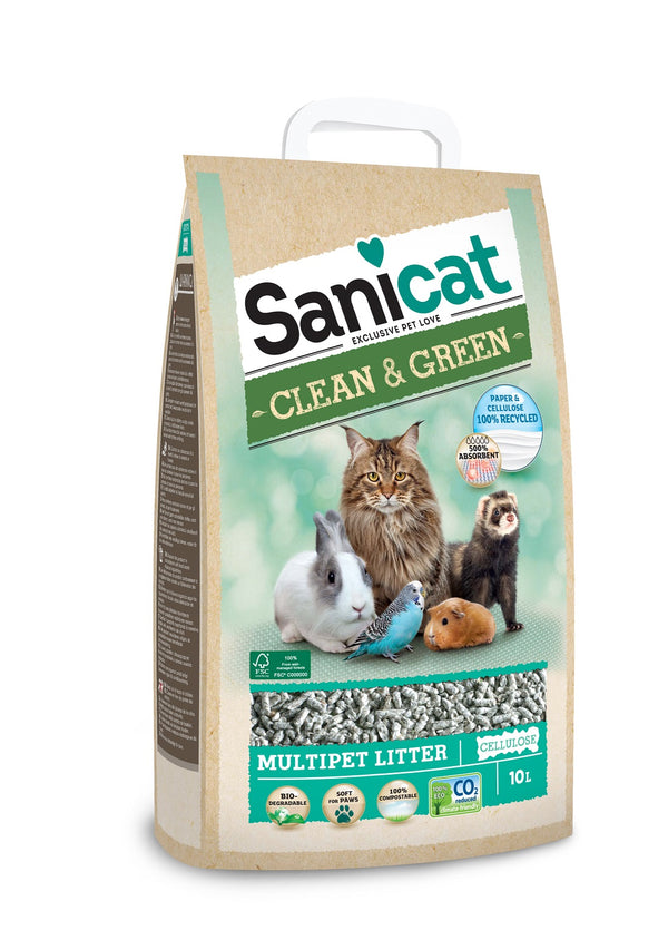 Macskaalom Sanicat Clean&Green Cellulóz 10l