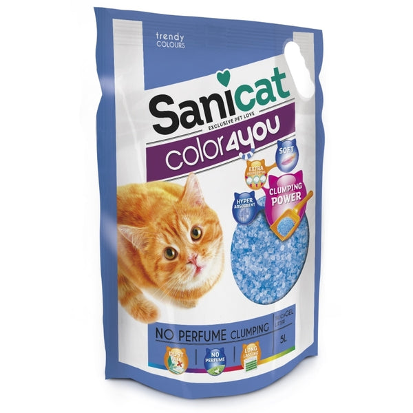 Sanicat Color4you Non Perfume Clumping Silica Gel - 5l