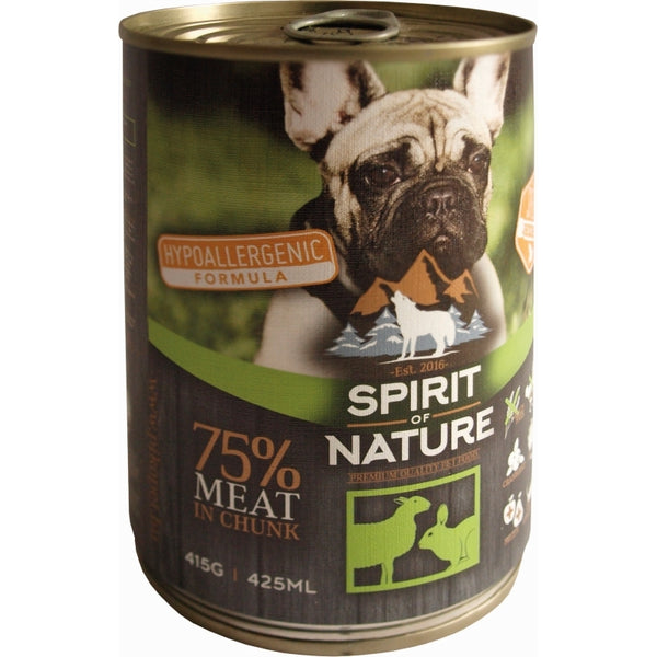 Spirit of Nature Hypoallergenic Wet Food For Adult Dogs With Lamb & Hare - 415g