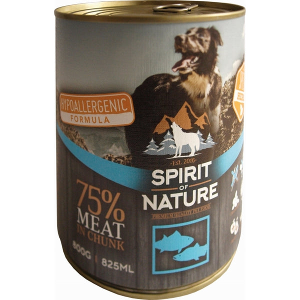 Spirit of Nature Hypoallergenic Wet Food For Adult Dogs With Tuna & Salmon - 800g