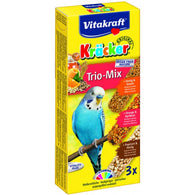 Vitakraft Kräcker Trio-Mix Honey & Orange & PopCorn For Budgies - 90g