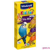 Vitakraft Kräcker Trio-Mix Egg & Fruit & Honey For Budgies - 90g