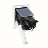 Trixie Gatera 4.waya Electromagnetic Cat Flap  24,4x21,1cm White