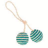 Trixie 2 cat balls on a rope, sisal, ø 4.5 cm