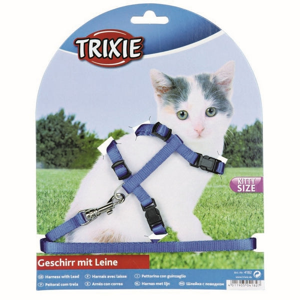 Trixie Set of Harness and Lead for Kittens / Small Cats Nylon 19-31cm/8mm