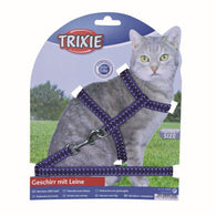 Trixie Reflecting Cat Set With Lead Collar 22-42cm/10mm 1,2m