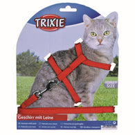 Trixie Nylon Cat Harness And Lead Set Collar Adjustable 22-42cm/10mm 1,25m