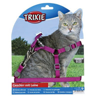 Trixie Cat Set of Harness and Lead Nylon 26-37cm/10mm 1,2m
