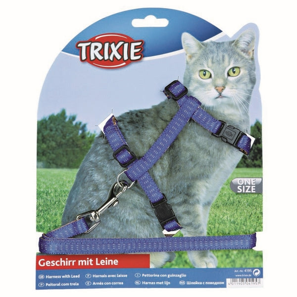 Trixie Cat Set of Harness and Lead Nylon 27-44cm/10mm 1,2m