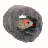 Trixie Plush Circular Roll Cat Toy With Mouse Inside 8cm