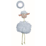 Trixie Sheep On An Elastic Band Plush Cat Toy with Bell 20 cm