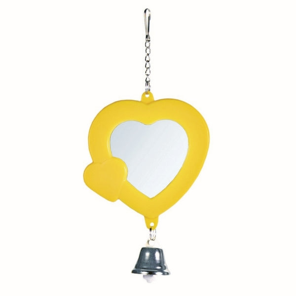 Trixie Heart Shaped Mirror with Bell 7 cm