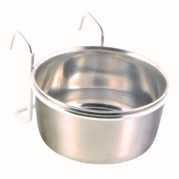 Trixie Stainless Steel Bowl With Holder - 9cm