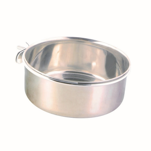 Trixie Stainless Steel Bowl With Holder - 14cm