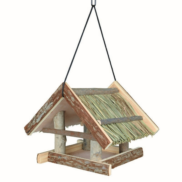 Trixie Hanging Bird Feeder Natural Wood