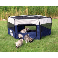 Trixie Polyester Puppy Run Kennel 130×55 cm Blue/ Grey