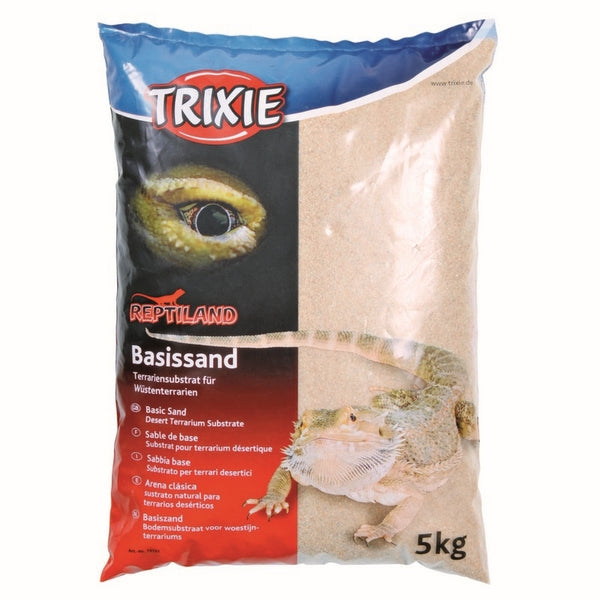 Trixie Basic Sand (Yellow) - terrarium substrate for desert terrariums - 5kg Bag