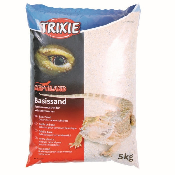 Trixie Basic Sand (White) - terrarium substrate for desert terrariums - 5kg Bag