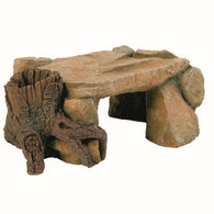 Trixie Aquarium Decor Rock Plateau with Tree Stump 25cm