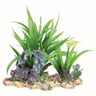 Trixie Plastic Plant in Gravel Bed, 18 cm