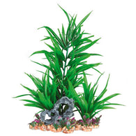 Trixie Aquarium Decor Plastic Plant in Gravel Bed 28cm