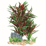 Trixie Plastic Plant in Gravel Bed, 28 cm, Multi-Colour