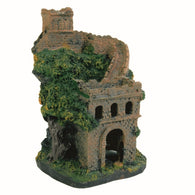 Trixie Polyresin Castle wall, Fish Tank Ornament Pet Aquarium 14cm
