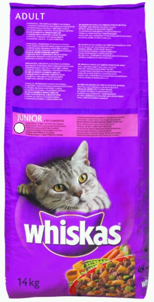 Whiskas Junior Dry Chicken 14kg