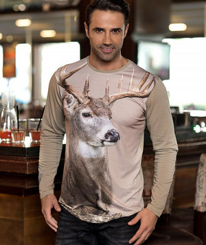 Man with Whitetail Deer Shirt