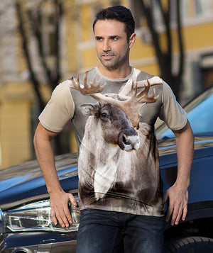 Man with Caribou shirt