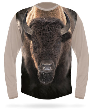 Buffalo t-shirt Long Sleeve by Hillman hunting gear