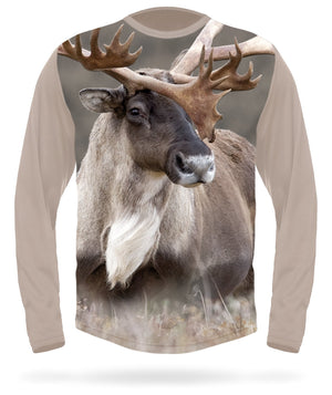 Caribou t-shirt - Long sleeve - HILLMAN® hunting gear