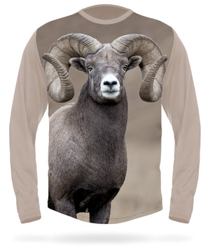 Bighorn sheep t-shirt Long Sleeve by Hillman hunting gear