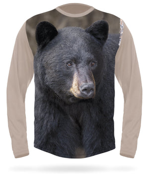 Black bear t-shirt long sleeve - HILLMAN hunting gear