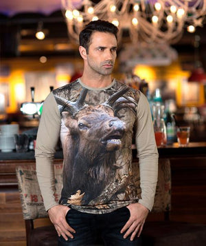Man with Bugling Elk T-shirt