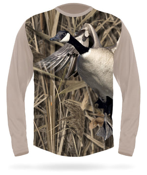 Canada Goose t-shirt Side Long sleeve Camo - HILLMAN® hunting gear