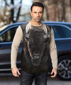 Man with Buffalo t-shirt