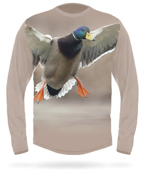 Mallard T-shirt Landing Long sleeve - HILLMAN® hunting gear